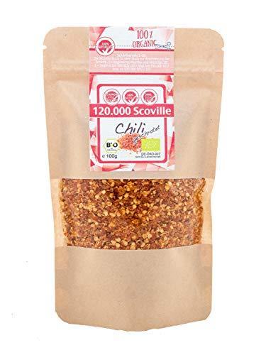 direct&friendly Bio Chili getrocknet extra scharf geschrotet 120.000 Scoville (100 g)