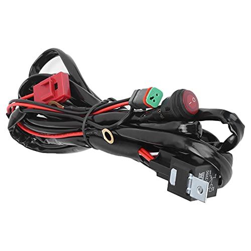 Arnés de cableado LED Aramox 40A 12V IP67 arnés de cableado de focos impermeables con conector DT para vehículos ATVs UTVs