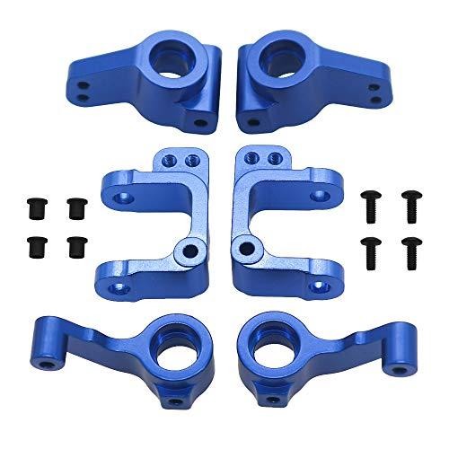 2Pcs Alloy Knuckle Steering Arm Rear Hubs for RC Car 1/10 ECX 2WD Series Ecx Ruckus Parts Ecx Torment Parts Ecx Amp Mt Parts(Dark Blue)