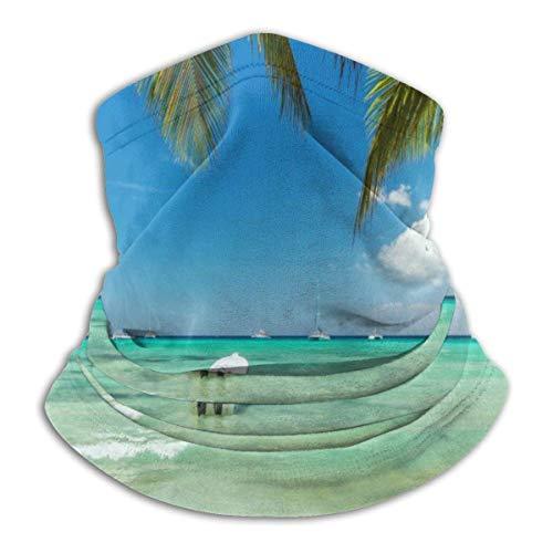 Linger In Bandeaux multifonctionnels Exotiques Palm-Tree Beaches Bandeaux Noir