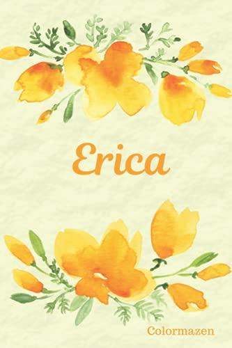 Erica: Personalised California Poppy Notebook (Small)