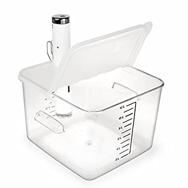 EVERIE Collapsible Hinge Sous Vide Container Lid for ChefSteps Joule Cookers, Fits 12,18,22 Quart Rubbermaid Container (Side Mount)