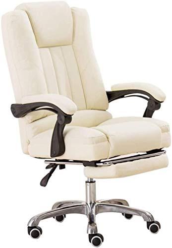 GAOLILI Bürostuhl mit Armlehne Schreibtisch Stühle, ergonomischer Bürostuhl Gaming Chair Lordosenstütze High Back Executive-Computer-Schreibtisch-Stuhl Büroangestellte (Color : White)