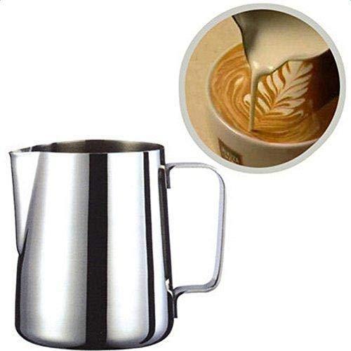 Depory Milchkännchen Milk Pitcher Edelstahl Milch Schalen für Milchaufschäumer Craft Kaffee Latte Milch Aufschäumen Krug Latte Art (150ml)