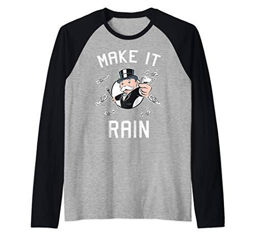Monopoly Make It Rain Camiseta Manga Raglan