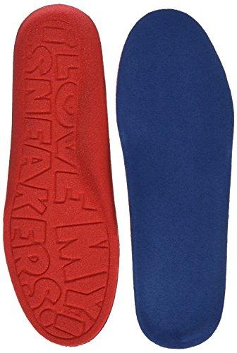 Bama Comfort Sneaker Fußbett, optimaler Tragekomfort für alle Sneaker und Freizeitschuhe, Unisex, Größe: 35/36, Blau/Rot