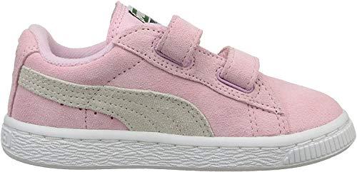 Puma Unisex-Kinder Suede 2 straps Inf Sneaker, Pink, 27 EU