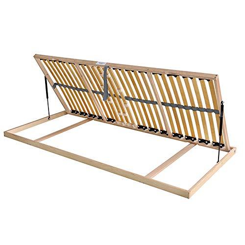 MaDeRa 7-Zonen-Lattenrost für Bettkastenfunktion, 28 Federleisten, Birkenschichtholz Größe 90 x 200 cm, Farbe Öffnung nach Rechts