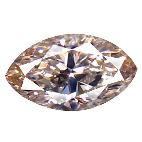 Deluxe Gems 0,22 ct Certificação AIG VVS1 Claridade Corte marquesa (5 x 3 mm) J (quase incolor) Pedra de diamante