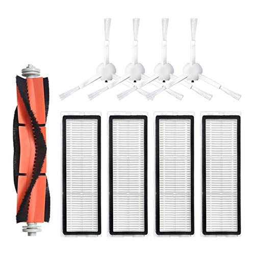 LICHIFIT Principal lado cepillo HEPA filtro partes trapeador agua núcleo peine para Mijia 1C robot Partes de aspirador reemplazo Accesorios