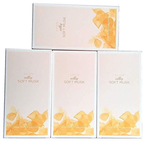 4 x Avon Silky Soft Musk Eau de Toilette Pour Femme 50ml (Lot de 4 pièces)