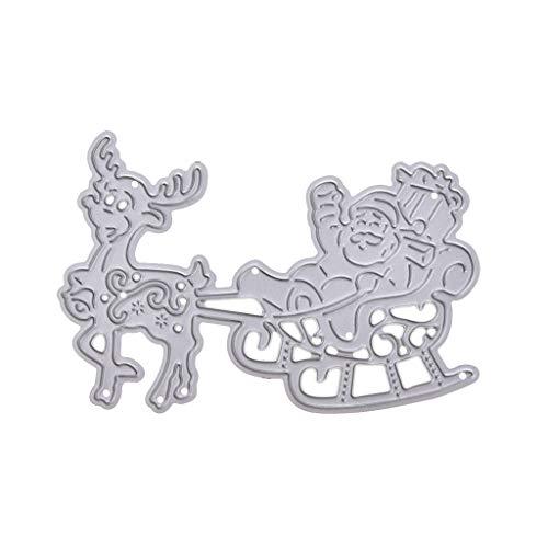 Mikiya Santa Claus Elk Cutting Dies Stencil DIY Scrapbooking reliëf papier kaart decoratie