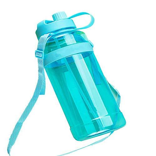 NA Nouvelle Bouteille d'eau Grande Capacité Tasse d'eau en Plastique avec Paille Hommes Et Femmes en Plein Air Portable Bouteille De Sport