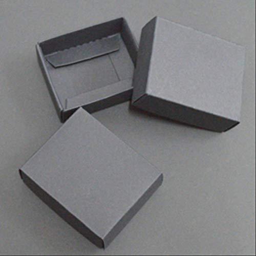 Scatola Regalo Cartone 10pcs Kraft Paper Scatola Di Cartone Grande Confezione Regalo Bianco Nero Giftbox Coperchio Scatola Di Carta Di Cartone Grande Confezione Regalo Imballaggio 21X15X5cm nero