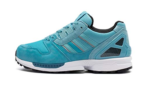 adidas Originals ZX 8000 W, Blue Glow-Light Aqua-core Black, 5