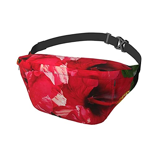 Hüfttasche Hawaiian Hibiscus Sling Bag Gürteltasche Crossbody Schulterrucksack Casual Brusttaschen Taille Daypack