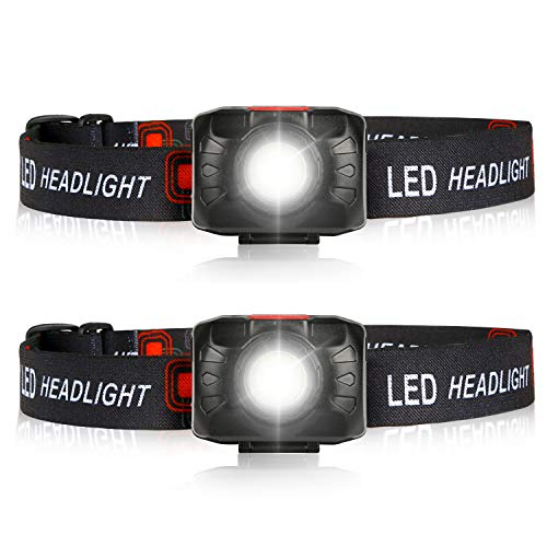 LEDTHON LEDヘッドライト HL-303[2個セット]【明るさ350ルーメン/実用点灯3.0~20時間/ 日本製 LED】 単4形電池3本使用, ランニング、釣り、夜間または暗所での作業。地震、停電、救助など、様々な災害に遭遇した際に十分な明るさの