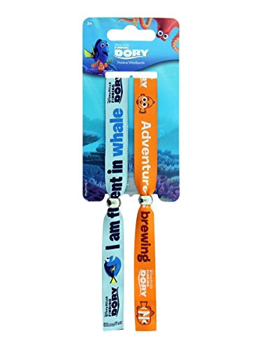 2 x Finding Nemo Dory Festival gewebt Doppel Armbänder offiziellen Disney