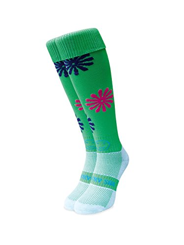 WackySox Lazy Daisy Neongrün Sport-Socken Adult Shoe Size 7-11