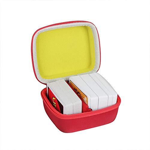 Hermitshell Hartschalen-Reiseetui für Skip BO + UNO Kartenspiel/Skip BO + Phase 10 Kartenspiel. Passend für bis zu 300 Karten. Karten nicht im Lieferumfang enthalten (rot + gelb).