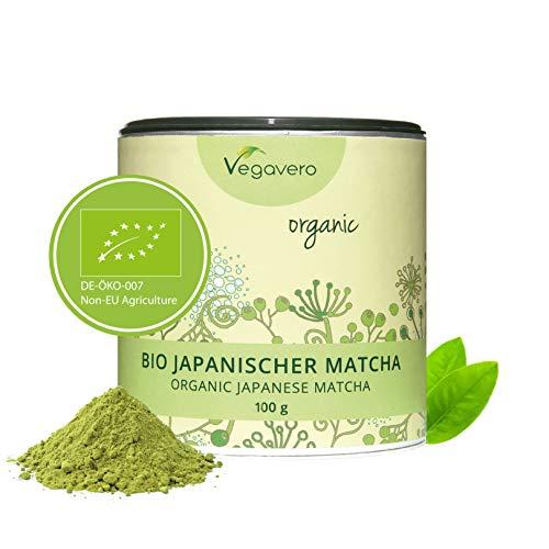 Vegavero Bio Matcha Tè dal Giappone 100 g | tè verde - Matcha di qualità premium | confezione salva-aroma | vegan
