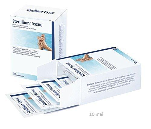 Sterillium Tissue Hände Desinfektionstücher 100 Stück (10 Stück x 10 Packungen)
