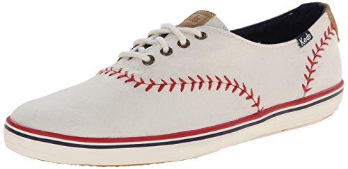 Keds Women's Champion Pennant Baseball Fashion Sneaker,Off White,7 M US US