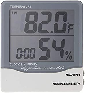 for Tang YI MING TL THC-03A Outdoor/Indoor LCD Digital Electronic Thermometer Hygrometer Alarm Clock(Grey) Messgerät (Color : Grey)