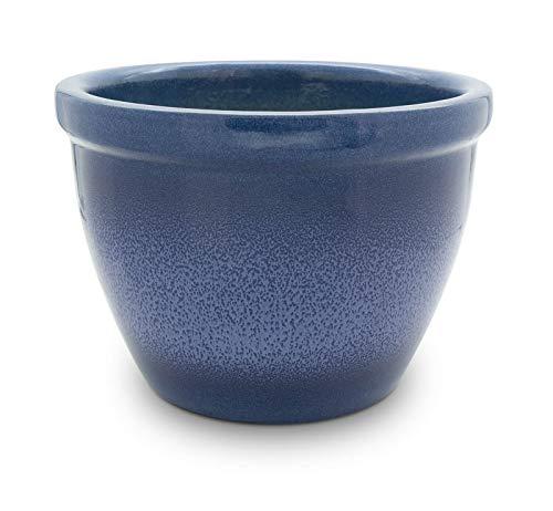 Venus II Pot de fleurs avec boule Poignée 45 x 37 cm Bleu flamme Antique/Céramique