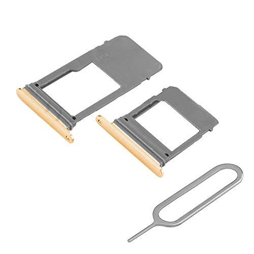 MMOBIEL SIM und SD Karte Tray Set 2 Schlitten kompatibel mit Samsung Galaxy A5 / A7 2017 (Gold) inkl. SIM Pin