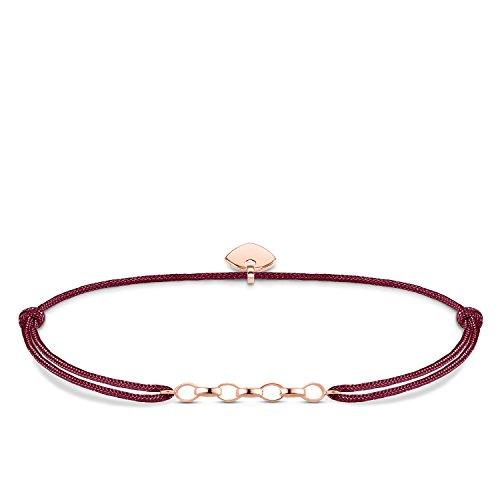 Thomas Sabo Damen-Armband Little Secret 925 Sterling Silber rosé vergoldet Rot LS052-597-10-L20v