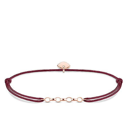 Thomas Sabo Damen-Armband Little Secret 925 Sterling Silber rosé vergoldet Rot LS052-597-10-L20v