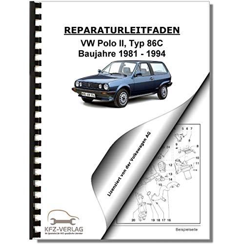 VW Polo 2, 86C (81-94) Elektrische Anlage Elektrik Systeme Reparaturanleitung