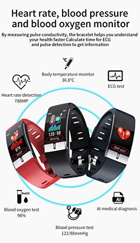 Pulsera de Actividad inteligente IP68 con medición de temperatura corporal para hombres y mujeres, con WhatsApp de… 3
