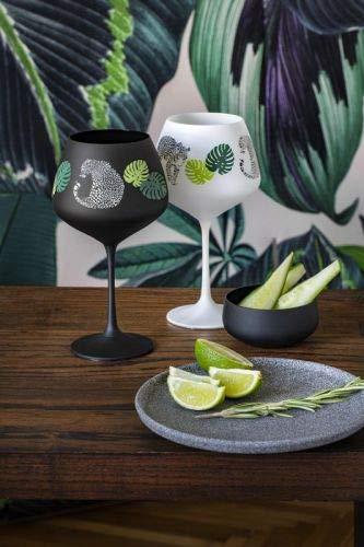Bohemia Jungle Gin & Tonic - Vaso de cristal (580 ml, 2 unidades), color blanco y negro