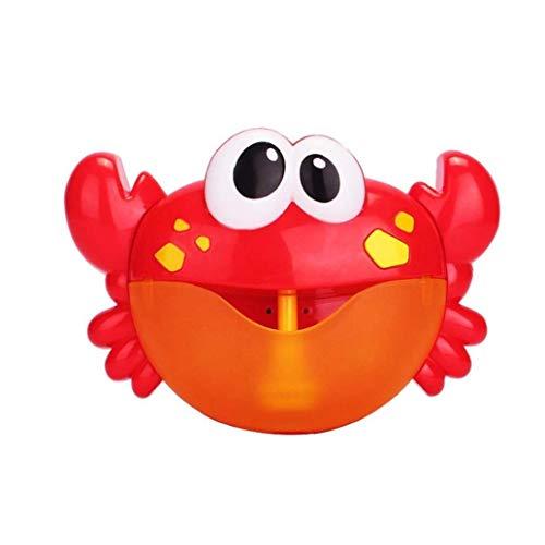 Bebé Baño De Burbujas Cangrejo Juguete Bubble Maker Bubble Blower Máquina De Burbujas Con Los Juguetes De Cuna 12 De Bañera De Burbujas Para Los Niños Del Bebé De Los Niños 1 Conjunto De Jugue