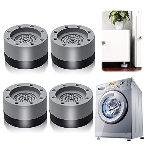 Almohadillas para Pies de Lavadora, 4 Piezas Amortiguador de Vibraciones para Lavadoras Almohadilla de Goma para Lavadoras, para lavadoras reducir ruido y vibración (gris 3.5cm)