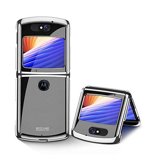 Hauw Funda Motorola RAZR 5G,Contraportada de Vidrio Templado Resistente a...