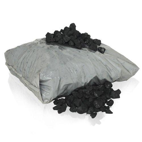 PALIGO Steinkohle Schmiedekohle Nusskohle Brenn Heiz Nuss Erbsen Kohle Fein 5-25mm 20kg Sack / 1 Karton Heizfuxx