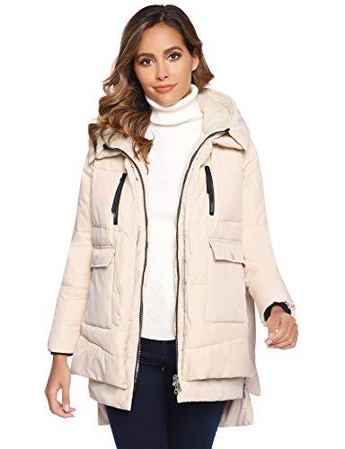 Abollria Chaqueta Gruesa Invierno para Mujer Abrigo Acolchado Cálido con Capucha Parker Chaqueta de Esquí