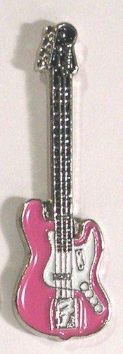 Esmalte de Metal Pin de broche Rock Fender guitarra eléctrica de música en color rosa