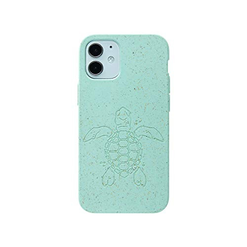 Pela: Funda para iPhone 12 Mini-100% compostable y biodegradable, ecológica, hecha de plantas (Classic Ocean Turtle)