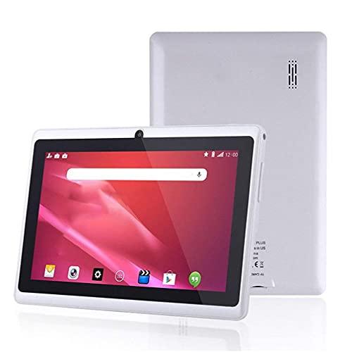 Tableta de tamaño portátil Tableta de 7 Pulgadas para Allwinner A33 Tablet PC 512MB + 4GB Blanco EU