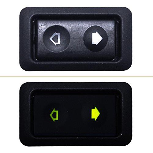 FEELDO - Interruptor de ventana universal de 6 pines, 12 V/24 V, 20 A, con indicador de iluminación, botón único