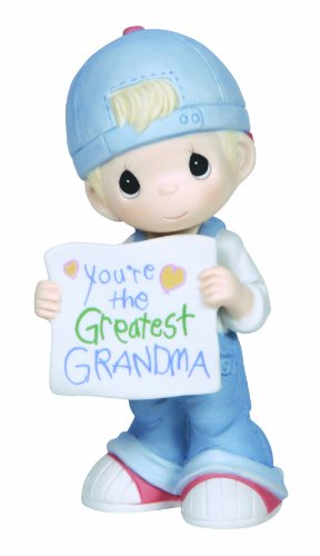 Precious Moments, Youre The Greatest Grandma, Bisque Porcelain Figurine, Boy, 133034