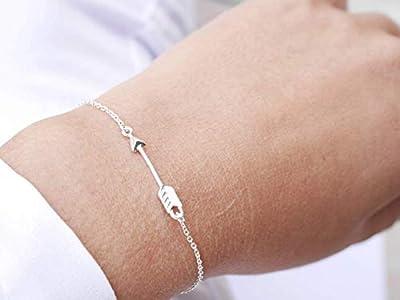Bracelet flèche argent 925 - bracelet fin argent - chaîne argent - charme flèche - bracelet boho - bracelet empilable - bijoux flèches