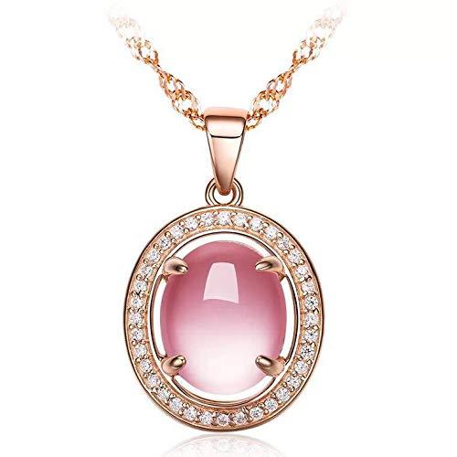 Hibiscus hanger van kristallen poeder van 925 roségoud, modesieraad.