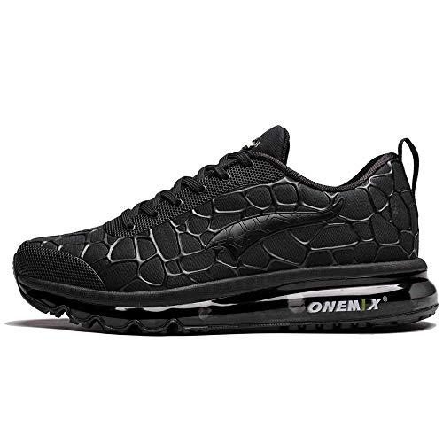 ONEMIX Trail Laufschuhe Herren Air Trailrunning Turnschuhe Sneaker Schwarz 1096 46 EU