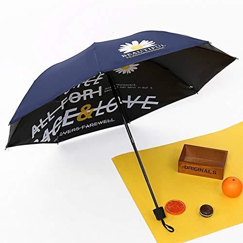 Sky Girl Umbrella Gänseblümchen Innen und Außen Blumennetz Rot Explosion Modell Schwarz Kunststoff Sonnencreme Sonnenschirm Benutzerdefinierte Werbung...
