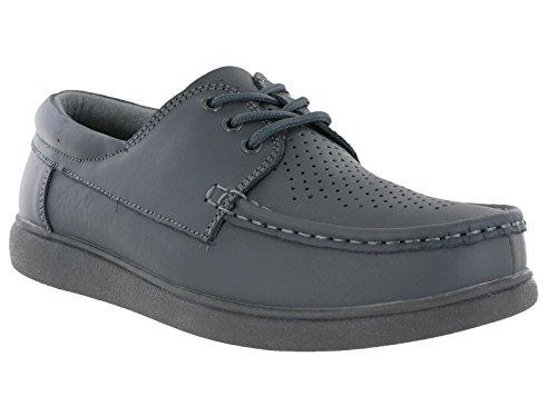 Dek Rasen Herren Beschichtetes Leder Bowling Schuhe Grau - grau, 10 UK